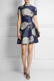Michael van der Ham Silk-jacquard mini dress