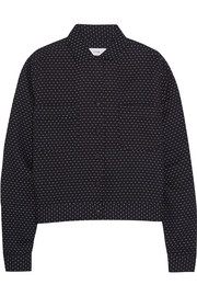 TITLE A Box cropped polka-dot cotton shirt