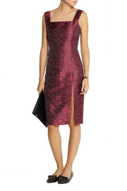 TITLE A Jennifer satin-jacquard dress