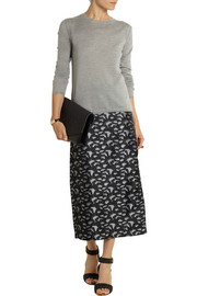 TITLE A Pillar jacquard midi skirt