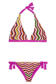 Missoni Crochet-knit triangle bikini