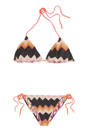 Missoni Reversible crochet-knit triangle bikini