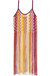 Missoni Fringed crochet-knit top