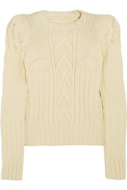 Maison Martin Margiela Aran-knit wool sweater