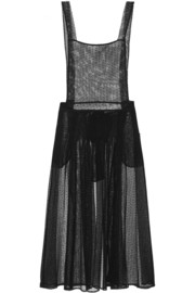 Maison Martin Margiela Swiss-dot tulle apron dress