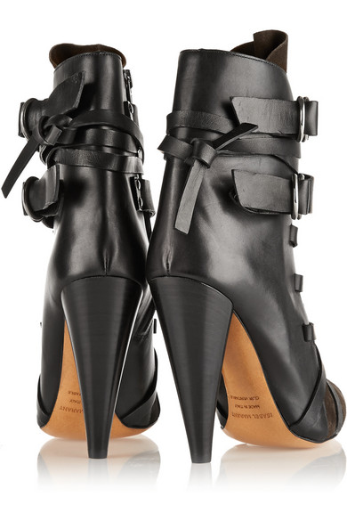 0ba02b2bc5e Isabel Marant | Royston suede and leather ankle boots | NET-A-PORTER.COM