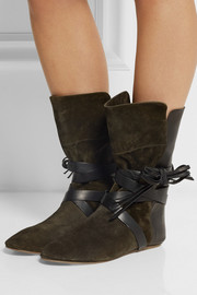 Isabel Marant Nira suede and leather ankle boots