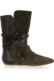 Nira suede and leather ankle boots