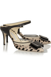 Atlanta leopard-print calf hair and leather pumps