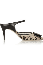 Bionda Castana Atlanta leopard-print calf hair and leather pumps