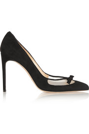 Bionda Castana Beatrix suede and mesh pumps