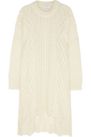 Vionnet Cable-knit mohair-blend sweater dress