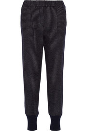 Vionnet Pinstriped wool-jersey track pants