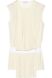 Vionnet Pleated crepe top