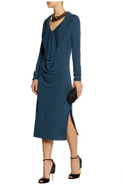 Vionnet Yavai draped crepe midi dress