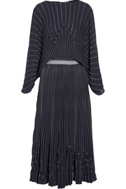 Vionnet Pleated crepe maxi dress