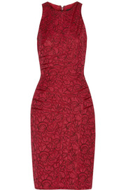 J Mendel Lace wrap-effect dress