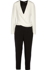 J Mendel Wrap-effect silk-crepe jumpsuit