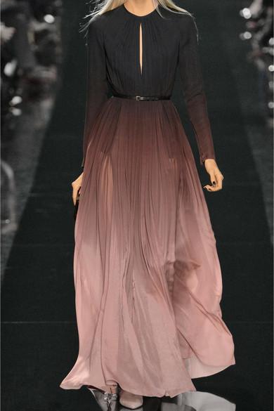 3ef1e0fc1b Elie Saab | Dégradé silk-georgette gown | NET-A-PORTER.COM
