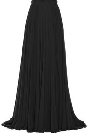 Elie Saab Pleated silk-chiffon maxi skirt