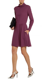 Nina Ricci Silk-crepe turtleneck dress