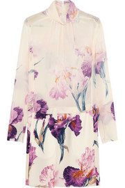 Nina Ricci Floral-print silk-georgette mini dress