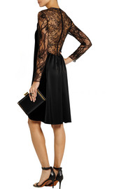Nina Ricci Velvet, lace and satin dress