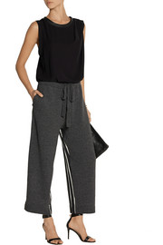 Nina Ricci Cropped wool-blend and silk-satin wide-leg pants