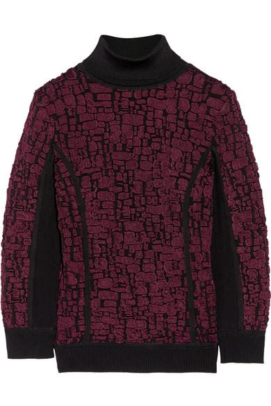 09234a6d7a9 Stretch cloqué-knit turtleneck sweater