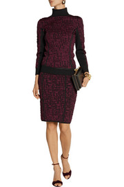 Nina Ricci Stretch cloqué-knit turtleneck sweater