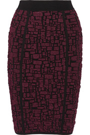 Nina Ricci Stretch cloqué-knit pencil skirt