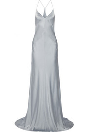 KAUFMANFRANCO Washed silk-satin gown
