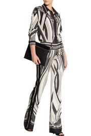 Roberto Cavalli Chicago printed stretch-silk shirt