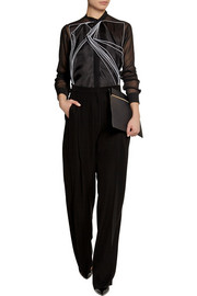 Christopher Kane Tech-satin wide-leg pants