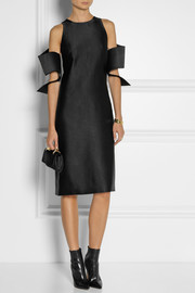 Christopher Kane Off-the-shoulder satin-faille dress
