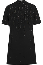 Christopher Kane Swarovski crystal-embellished wool-crepe mini dress
