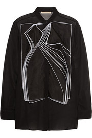 Christopher Kane Layered silk-organza shirt