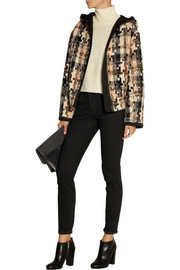 See by Chloé Hooded houndstooth tweed jacket