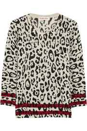 See by Chloé Leopard-intarsia wool sweater