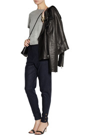 See by Chloé Pinstriped wool-blend felt tapered pants
