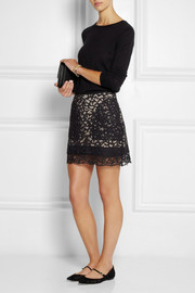 See by Chloé Cotton-blend lace mini skirt