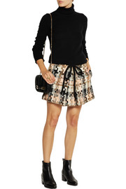 See by Chloé Patchwork-effect tweed mini skirt