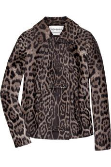 Yves Saint LaurentPonyskin leopard-print coat