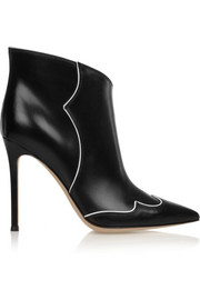 Gianvito Rossi Piped leather ankle boots