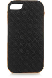 + Lily Kwong The Charlotte rose gold-plated leather iPhone 5 case