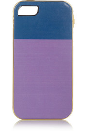 + Lily Kwong The Sam gold-plated leather iPhone 5 case