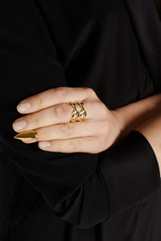 Finds + H & H Pointer gold-plated ring