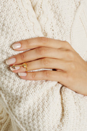 Finds + H & H gold-plated Swarovski crystal arrow ring