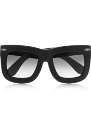 Finds + GREY ANT Status square-frame leather sunglasses