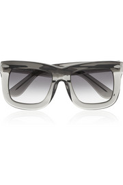 Finds + GREY ANT Status square-frame acetate sunglasses